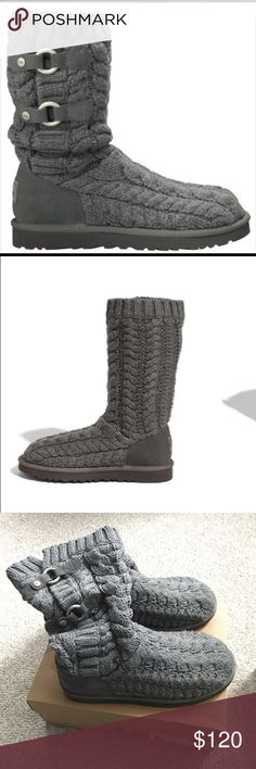 Ugg Boots These are knit Ugg boots aka Tularosa Route Cable. They are in great condition! UGG Shoes Winter & Rain Boots