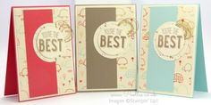 Stampin' Up! Demonstrator Pootles - Friendly Wishes and Sweet Li'l Things - 21 different cards! 3