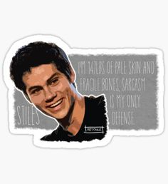High quality Dylan O'brien gifts and merchandise. Inspired designs on t-shirts, posters, stickers, home decor, and more by independent artists and designers from around the world. Stiles, Drawing Sketches, Drawings, Cool Stickers, Pale Skin, Dylan O'brien, Maze Runner, Teen Wolf, Planner Stickers