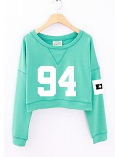 Find More Hoodies & Sweatshirts Information about 2016 fashion women's exo spring autumn number printed cropped sweatshirts kpop short hoodies mint green white sudadera mujer,High Quality fashion card,China hoodie bulk Suppliers, Cheap hoodie sweatshirts Kpop Outfits, Girl Outfits, Cute Outfits, Fashion Outfits, Baekhyun, Vetement Hip Hop, Mint Green Shorts, Teen Fashion, Womens Fashion