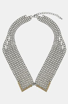 Topshop Metal Collar Necklace   Nordstrom