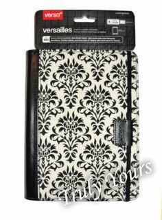 "Verso Versailles Black White Damask Cover Case Folio for Kindle Fire HD 7""   eBay"