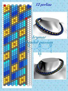 Peyote Beading Patterns, Loom Bracelet Patterns, Bead Crochet Patterns, Bead Crochet Rope, Beaded Jewelry Patterns, Loom Beading, Necklace Tutorial, Bead Weaving, Creations
