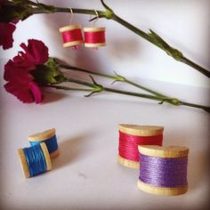 How cute is this new line of miniature bobbin jewellery? Head over to our etsy store to get your hands on an adorable new ring and even some matching earrings!