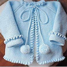Recipe Of Open Garment With Openwork Dec Knitcardiganmodels - Diy Crafts - Marecipe Baby Cardigan Knitting Pattern Free, Knitted Baby Cardigan, Knit Baby Sweaters, Baby Knitting Patterns, Diy Crafts Dress, Diy Crafts Knitting, Crochet Baby Bonnet, Baby Girl Patterns, Knit Baby Dress