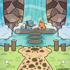 hi im elena/leo and i like cartoons and video games and drawing fanart of cartoons and video games. Pokemon Comics, All Pokemon, Pokemon Fan Art, Pokemon Games, Cute Pokemon, Monster Games, Pokemon Universe, Pokemon Special, Fanart