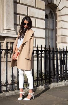 In love with white and oversized coats at the moment ❤️