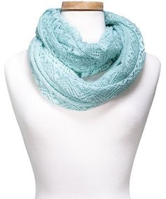 Look what I found on #zulily! Aqua Crocheted Infinity Scarf by Kaleidoscope Collections #zulilyfinds