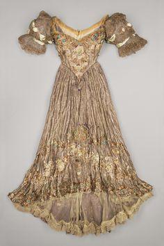 fripperiesandfobs:      Doucet evening dress ca. 1898-1900      From the Metropolitan Museum of Art