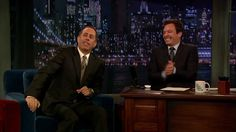 Jimmy Fallon and Jerry Seinfeld During The Commercial Break (Late Night ...