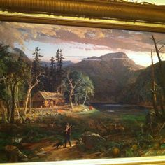 Painting at Crystal Bridges! I like the clouds in this one!
