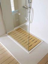 Wooden shower deck tile