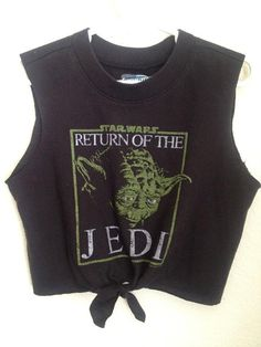 Little Girls Adorable YODA STAR WARS Tie Front T-shirt ready to ship today size 5