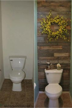 Great idea to spice up a small bathroom.