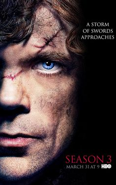 Game of Thrones - Season 3 poster - Tyrion Lannister (actor: Peter Dinklage)