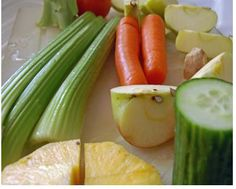 The Cholesterol Buster     A juice made from Apple cucumber and celery is known to fight cancer and reduce cholesterol. It also improves any sort of stomach upset and headache. This healthy juice is a must have once you have crossed your 30's. If you have this juice every other day, then you will not have to worry about your cholesterol level any more    http://healthmad.com/
