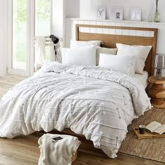 Shop for Harmony Textured Duvet Cover. Get free delivery at Overstock - Your Online Bedding Store! Get in rewards with Club O! Dorm Bedding Sets, Duvet Bedding, Duvet Sets, Linen Duvet, Dorm Comforters, Cotton Duvet, Grey Bedding, Textured Duvet Cover, Textured Bedding