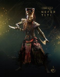 Nefertiti from Assassin's Creed game Assassins Creed Black Flag, Assassins Creed Series, Assassins Creed Origins, The Assassin, Egyptian Mythology, Egyptian Art, Connor Kenway, Fantasy Warrior, Pulp Fiction