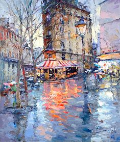 Alexi Zaitsev - paintings and prints for sale of artist Urban Painting, Artist Painting, Impressionist Paintings, Landscape Paintings, Landscapes, Ballerina Painting, Caribbean Art, Funky Art, Buy Paintings