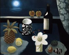 'By Moonlight' a painting by Mary Fedden 2006