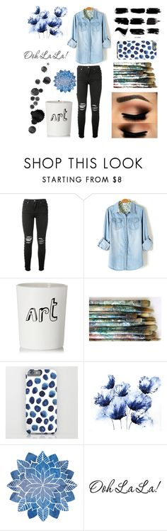 """Just A Painting Kind Of Day"" by lillian-snider ❤ liked on Polyvore featuring AMIRI and Bella Freud"