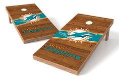 Miami Dolphins Cornhole Board Set - Logo http://prolinetailgating.com/