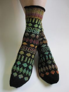 Circles and Spirals Socks by Mimi Kezer