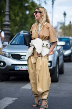 On the street at Paris Fashion Week. Photo: Chiara Marina Grioni/Fashionista.
