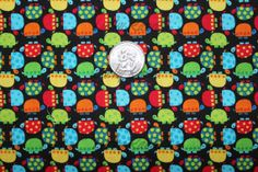 Timeless Treasures Tiny Turtles Black Fabric  by luckykaerufabric, $4.60