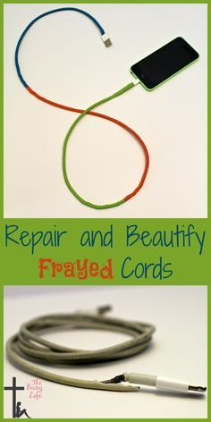 Repair and Beautiful Frayed Cords - The Busy Life