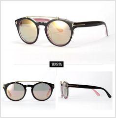 Aliexpress.com: Compre 2015 novos Super Cool óculos redondos óculos De Sol mulheres marca Designer Reflective Lens óculos De Sol óculos De Sol Feminino Gafas de confiança Óculos Escuros fornecedores em European Ikery Deal