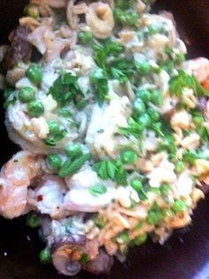It was delicious:-) - 3件のもぐもぐ - Wild caught prawns,sweet peas, crimini mushrooms, and brown rice pasta in alfredo sauce and fresh herbs by virginia frasse