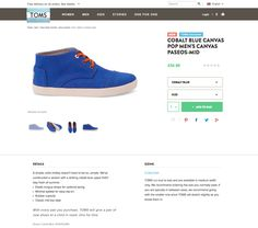 TOMS Product page design #magento #web #ecommerce