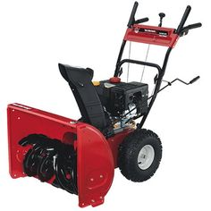Yard Machines 31AS63EF700 26-Inch 208cc OHV 4-Cycle Gas Powered Two Stage Snow Thrower With Electric Start