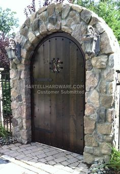 A homeowner in Bardonia, NY recently wrapped up rear patio arched doorway entrance project and needed rustic iron hardware to complete the look for their rustic decor. Wrought iron decorative  door hardware from  Agave Ironworks fit the scheme and all was installed with little effort!