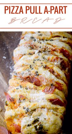 Pizza Pull A-part Bread - Recipe Diaries Pizza Recipes, Appetizer Recipes, Bread Recipes, Cooking Recipes, Appetizers, Dough Recipe, Italian Recipes, The Best, Meals