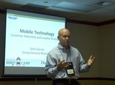 Glen Garvin speaking on Mobile Technology at Automotive Bootcamp