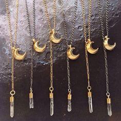 Moon Crystal Necklaces | axandapple | #jewelry