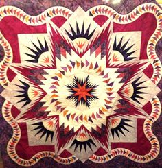 Glacier Star, Quiltworx.com, Made by Jeanine Ford Morrell -  Certified Shop Peddler's Way.