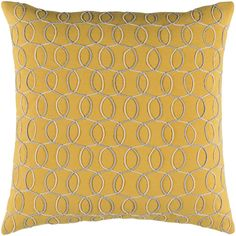 Solid Bold II Pillow in Bright Yellow & Cream design by Bobby Berk