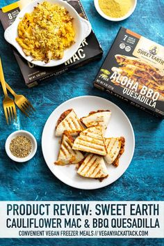 Today, I'm giving new Sweet Earth Foods frozen entrees a try! Let's see how their convenient Aloha BBQ Quesadilla, and vegan Cauliflower Mac score. Tofu Dinner Recipes, Vegan Recipes Easy, Beef Recipes, Lunch Recipes, Vegan Freezer Meals, Vegan Dinners, Easy Vegan Lunch, I Chef, Vegan Cauliflower