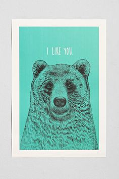 Rachel Caldwell I Like You Art Print