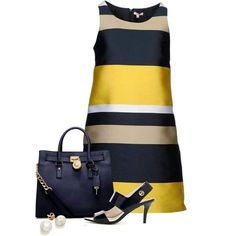 A fashion look from February 2013 featuring P. dresses, MICHAEL Michael Kors sandals y MICHAEL Michael Kors tote bags. Browse and shop related looks. Chic Outfits, Fashion Outfits, Womens Fashion, Fashion Trends, Modest Outfits, Skirt Outfits, Modest Fashion, Mode Style, Style Blog