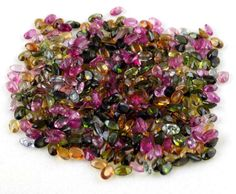 Wholesale Lot 25 Pieces Natural Multi Tourmaline Oval 3x5mm Normal Cut Gemstone