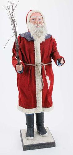 Lot:Large German Santa Claus Figure, Lot Number:21, Starting Bid:$600, Auctioneer:Noel Barrett, Auction:Large German Santa Claus Figure, Date:08:00 AM PT - Dec 5th, 2014