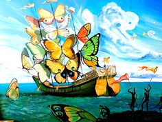 """""""El barco de mariposas"""" atribuido a Salvador Dalí, es en realidad obra de…"""