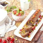 To Aleppo With LoveKibbeh Mabroumeh Rolled Kibbeh  Kibbeh Roll an authentic Aleppine dish It is kibbeh dough stuffed with a mixture of meat and pistachios then rolled into a log and baked in the ovenRecipe link in bio food blog instablog instafoid recipe foodie foodblogger tutorial delicious tasty photography foodphotography lunch kibbeh canon zomato zomatofoodie zomatouae love foodporn pistachio bulgur traditional authentic buzzfeast uae dubai uaeblogger