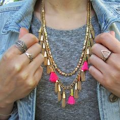 We're OBSESSED with this tassel jewelry—for under $100!