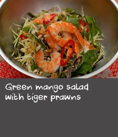 Luke Nguyen shares his recipe for possibly the most perfect salad. The green mango adds texture, freshness and tang while the prawns sing of summer. You could also use lobster or cooked, picked crab meat if you prefer. King Crab Recipe, King Prawn Recipes, Lobster Recipes, Crab Recipes, Lobster Meal, Summer Salad Recipes, Summer Salads, Green Mango Salad, Crab Salad