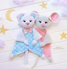 Easy Crochet Patterns, Amigurumi, Baby lovey toys by AVokhminaPatterns Pattern Baby, Baby Patterns, Easy Crochet Patterns, Crochet Patterns Amigurumi, Baby Security Blanket, Kids Blankets, Baby Lovey, Crochet Mouse, Baby Comforter